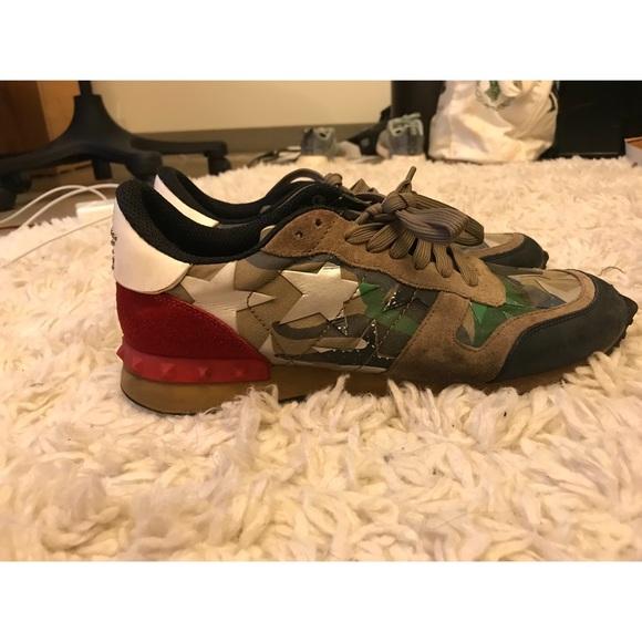 032b4205dd8d25 Green Valentino Camo Rockstud Runner Sneakers. M 5bb5417b9264af58c1e6c5b3